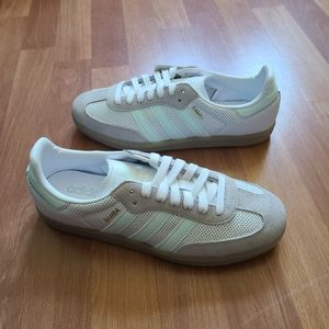 Adidas Samba OG white gray aqua sneakers new